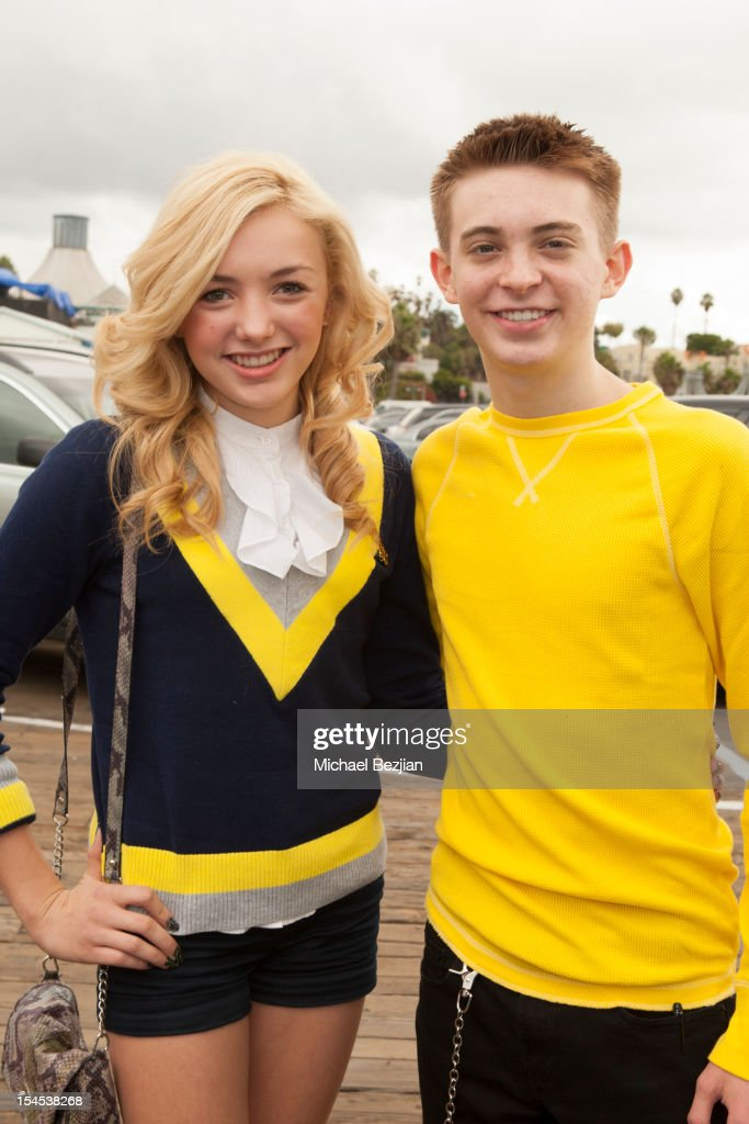 Actress Peyton List and Actor Dylan Riley Snyder attend Mattel Party On The Pier Benefiting Mattel Children's Hospital UCLA - Inside at Pacific Park – Santa Monica Pier on October 21, 2012 in Santa Monica, California.
