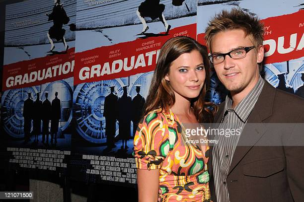 Actress Peyton List and Actor Riley Smith attend the 'Graduation' movie premiere at the Landmark Embarcadero Theatre May 1 2008 in San Francisco...