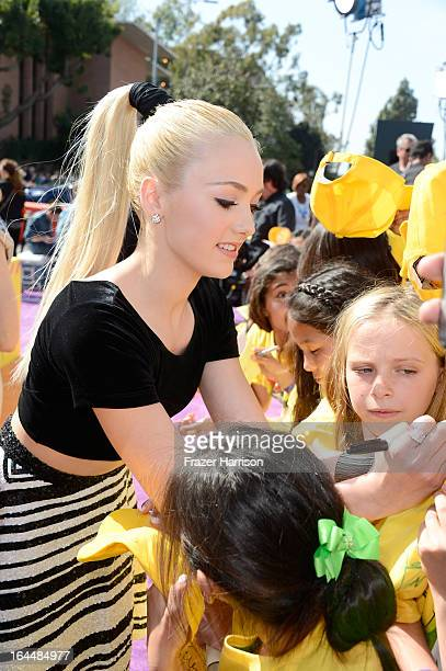 Actress Peyton List arrives at Nickelodeon's 26th Annual Kids' Choice Awards at USC Galen Center on March 23 2013 in Los Angeles California