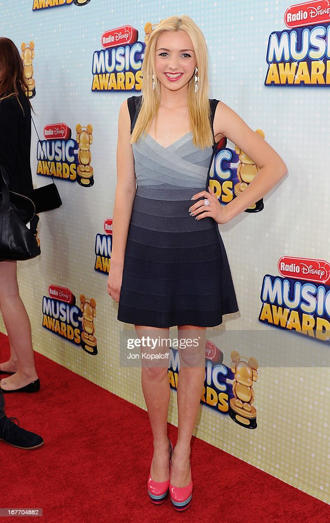 Actress Peyton List arrives at the 2013 Radio Disney Music Awards at Nokia Theatre L.A. Live on April 27, 2013 in Los Angeles, California.