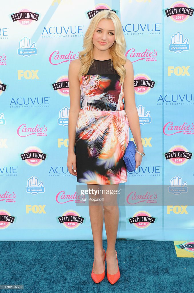 Actress Peyton List arrives at the 2013 Teen Choice Awards at Gibson Amphitheatre on August 11, 2013 in Universal City, California.