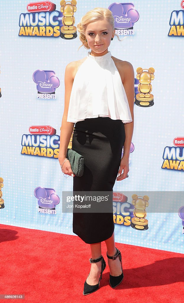 Actress Peyton List arrives at the 2014 Radio Disney Music Awards at Nokia Theatre L.A. Live on April 26, 2014 in Los Angeles, California.