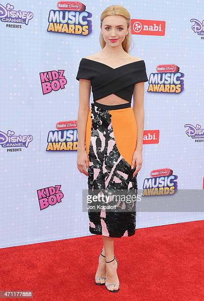 Actress Peyton List arrives at the 2015 Radio Disney Music Awards at Nokia Theatre LA Live on April 25 2015 in Los Angeles California