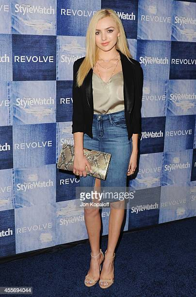 Actress Peyton List arrives at the People StyleWatch 4th Annual Denim Awards Issue at The Line on September 18 2014 in Los Angeles California