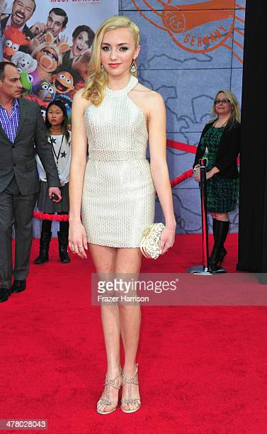 Actress Peyton List arrives at the premiere Of Disney's 'Muppets Most Wanted' at the El Capitan Theatre on March 11 2014 in Hollywood California
