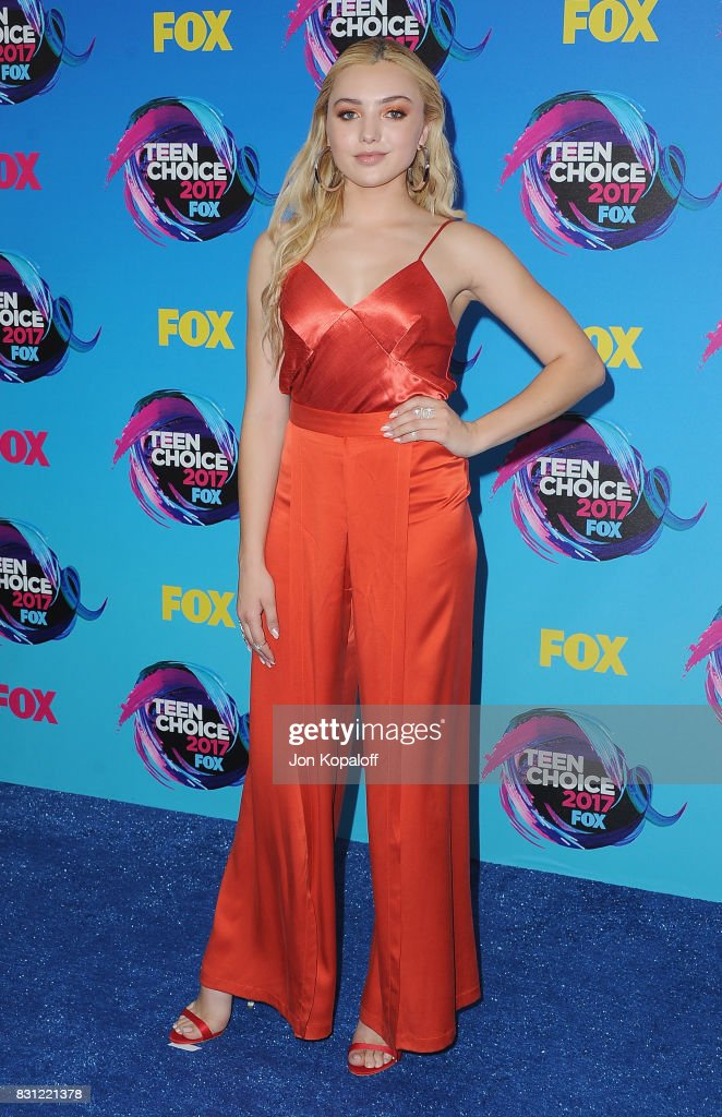 Actress Peyton List arrives at the Teen Choice Awards 2017 at Galen Center on August 13, 2017 in Los Angeles, California.