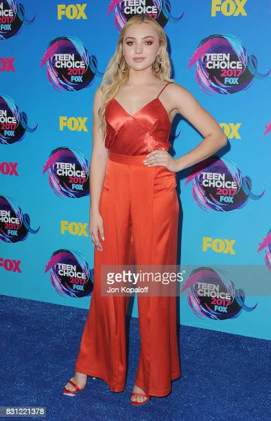 Actress Peyton List arrives at the Teen Choice Awards 2017 at Galen Center on August 13 2017 in Los Angeles California