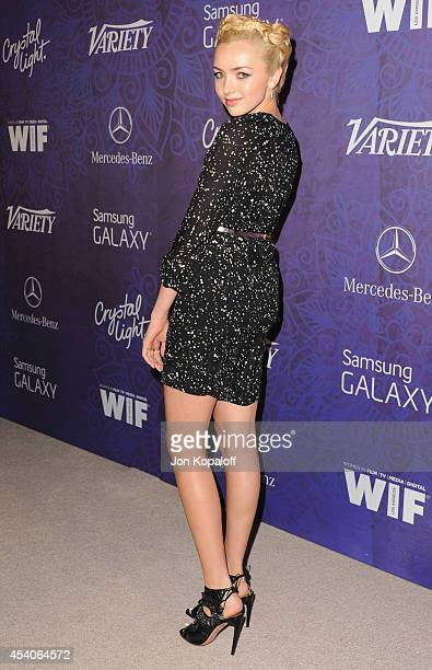 Actress Peyton List arrives at Variety And Women In Film Annual PreEmmy Celebration at Gracias Madre on August 23 2014 in West Hollywood California