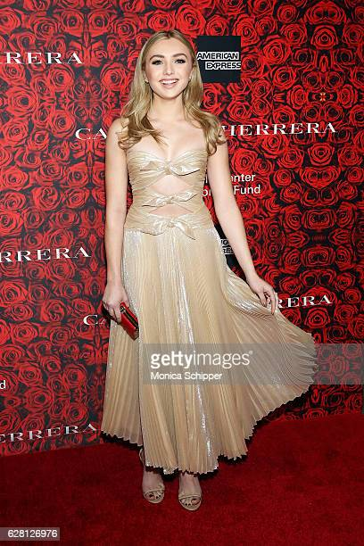 Actress Peyton List attends An Evening Honoring Carolina Herrera at Alice Tully Hall at Lincoln Center on December 6 2016 in New York City