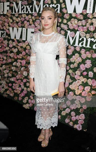 Actress Peyton List attends Max Mara and Vanity Fair's celebration of Women In Film's Face of the Future Award recipient Zoey Deutch at Chateau...