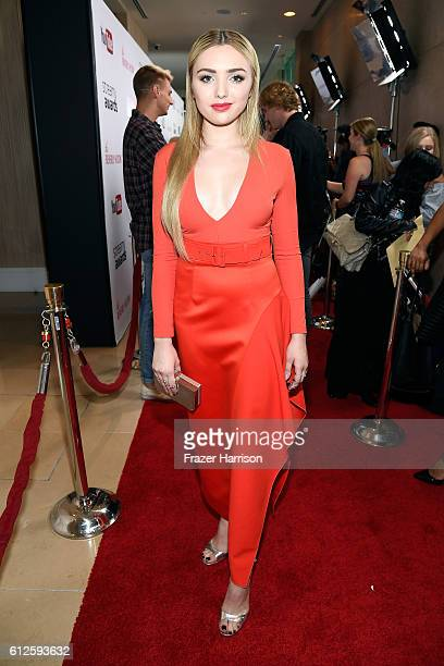 Actress Peyton List attends the 6th annual Streamy Awards hosted by King Bach and live streamed on YouTube at The Beverly Hilton Hotel on October 4...
