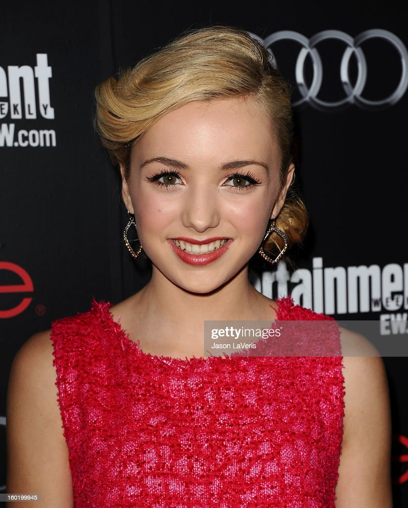 Actress Peyton List attends the Entertainment Weekly Screen Actors Guild Awards pre-party at Chateau Marmont on January 26, 2013 in Los Angeles, California.