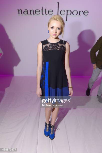 Actress Peyton List attends the Nanette Lepore fashion show during MercedesBenz Fashion Week Fall 2014 at The Salon at Lincoln Center on February 12...