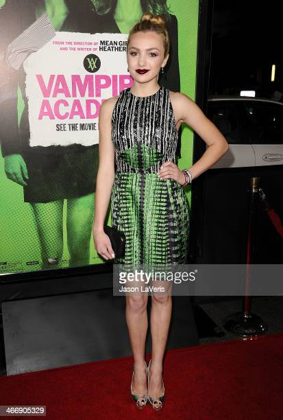 Actress Peyton List attends the premiere of 'Vampire Academy' at Regal Cinemas LA Live on February 4 2014 in Los Angeles California