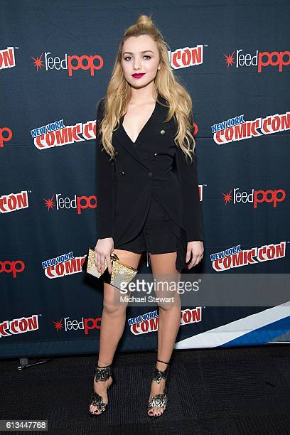 Actress Peyton List attends 'The Thinning' Movie Panel Advance Screening press room during 2016 New York Comic Con at the Jacob Javitz Center on...