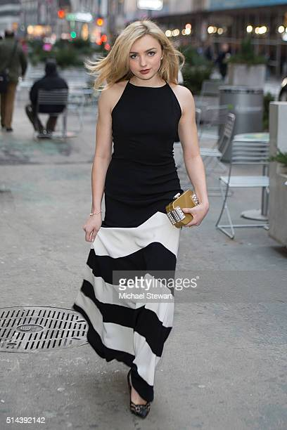 Actress Peyton List is seen in Midtown on March 8 2016 in New York City