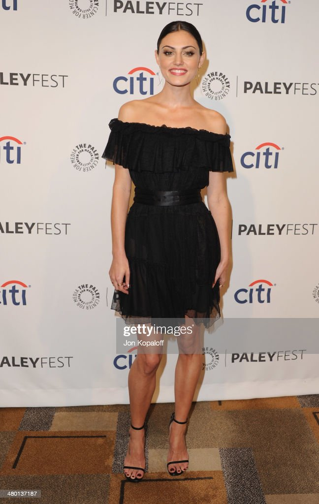 Actress <a gi-track='captionPersonalityLinkClicked' href=/galleries/search?phrase=Phoebe+Tonkin&family=editorial&specificpeople=5338240 ng-click='$event.stopPropagation()'>Phoebe Tonkin</a> arrives at the 2014 PaleyFest - 'The Vampire Diaries' & 'The Originals' on March 22, 2014 in Hollywood, California.