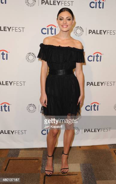 Actress Phoebe Tonkin arrives at the 2014 PaleyFest 'The Vampire Diaries' 'The Originals' on March 22 2014 in Hollywood California