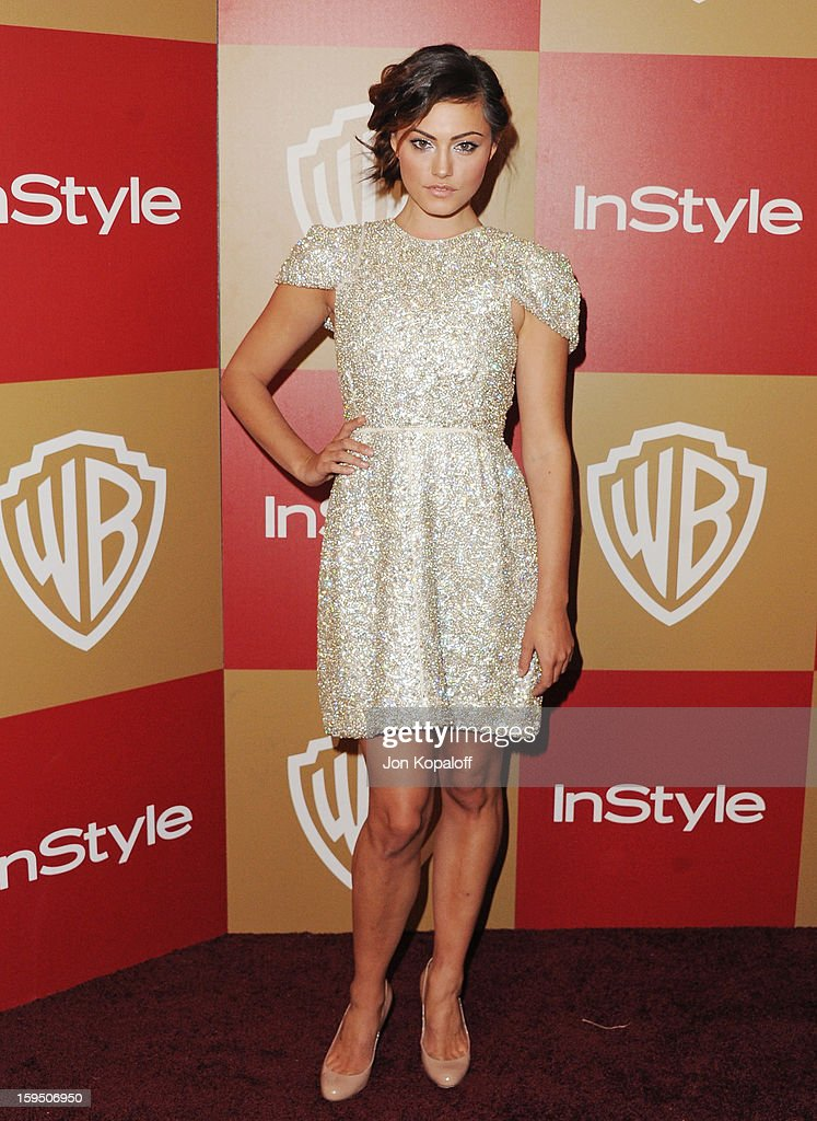 Actress Phoebe Tonkin arrives at the InStyle And Warner Bros. Golden Globe Party at The Beverly Hilton Hotel on January 13, 2013 in Beverly Hills, California.