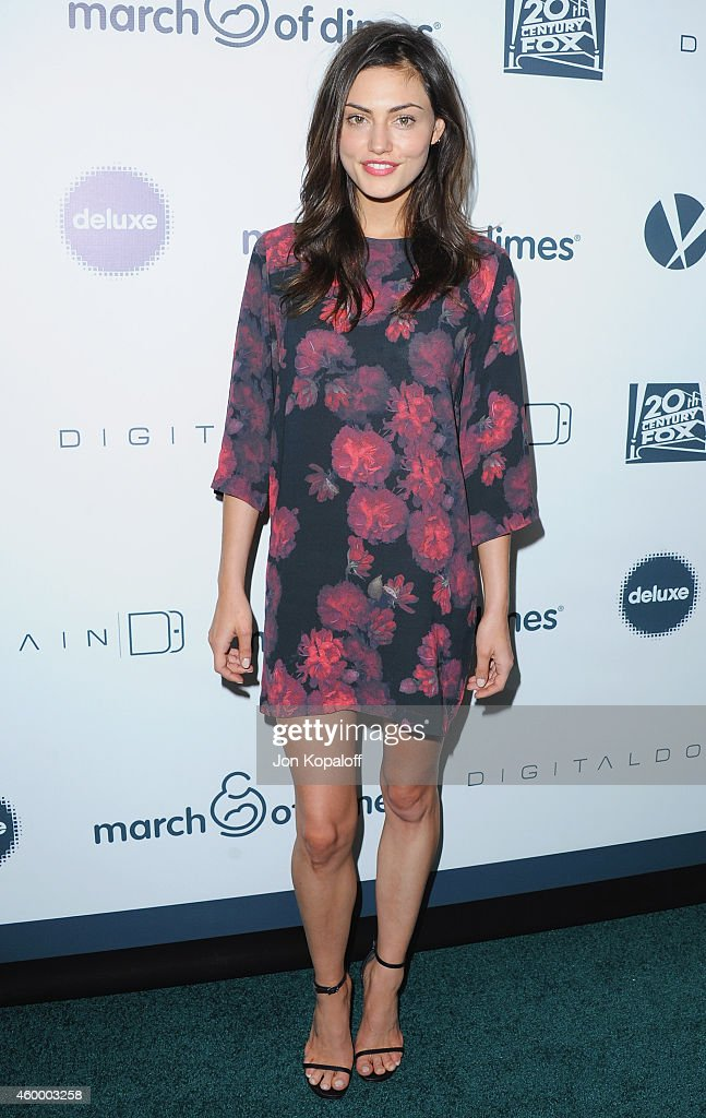 Actress Phoebe Tonkin arrives at the March Of Dimes' Celebration Of Babies at Regent Beverly Wilshire Hotel on December 5 2014 in Beverly Hills...