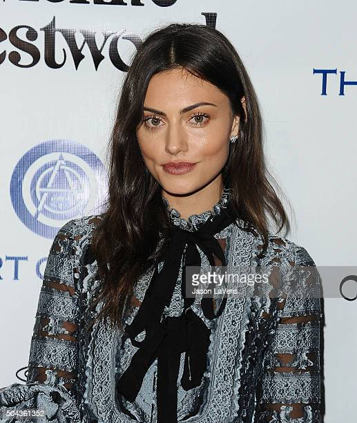 Actress Phoebe Tonkin attends Art of Elysium's 9th annual Heaven Gala at 3LABS on January 9 2016 in Culver City California