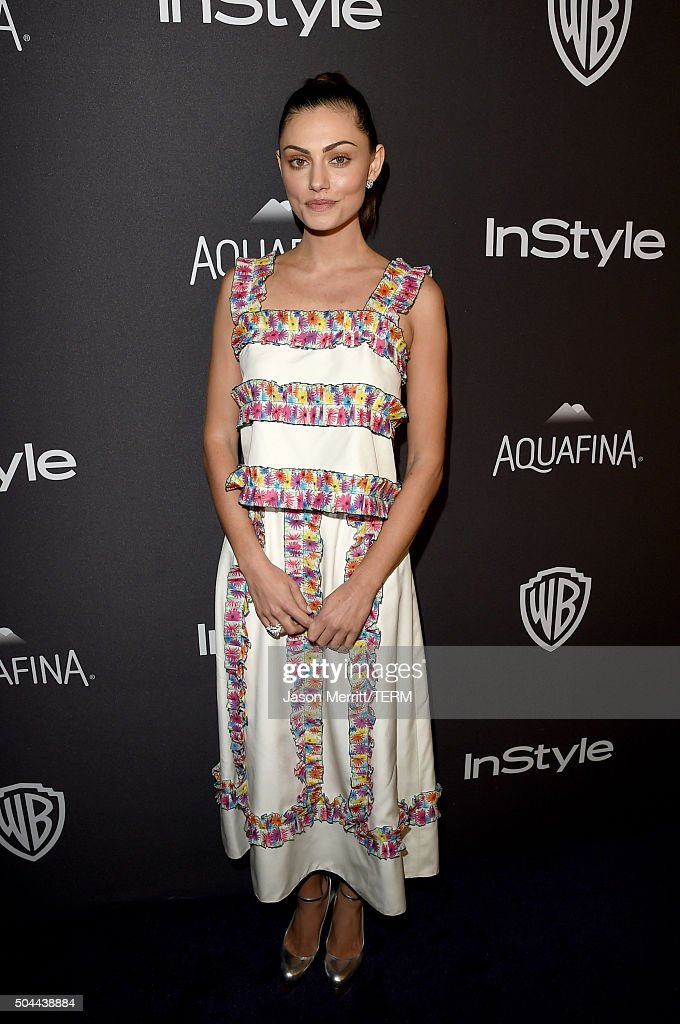 Actress Phoebe Tonkin attends The 2016 InStyle And Warner Bros 73rd Annual Golden Globe Awards PostParty at The Beverly Hilton Hotel on January 10...