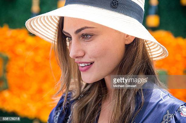 Actress Phoebe Tonkin attends the 2016 Veuve Clicquot Polo Classic at Liberty State Park on June 4 2016 in Jersey City New Jersey