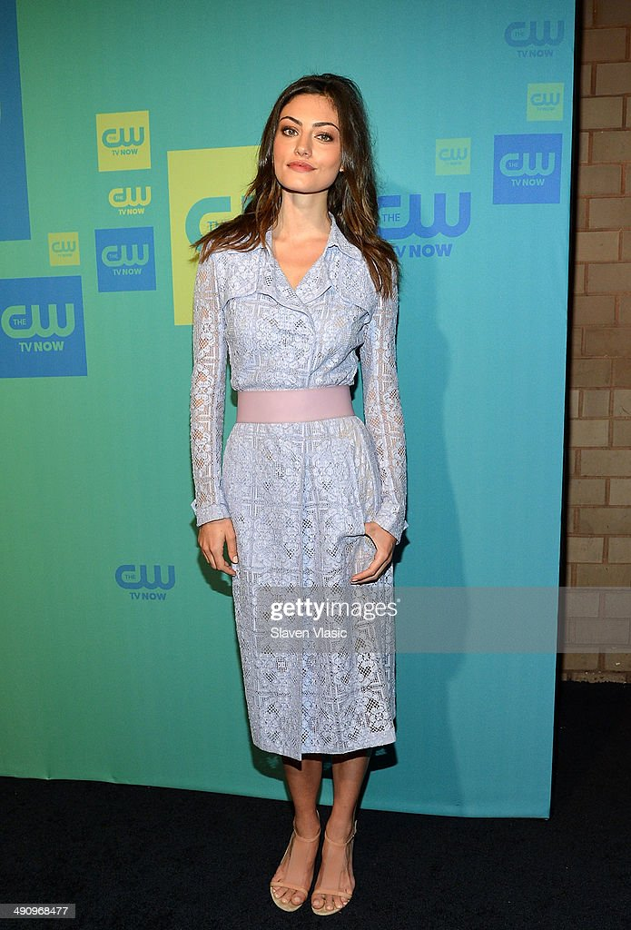 Actress Phoebe Tonkin attends the CW Network's New York 2014 Upfront Presentation at The London Hotel on May 15 2014 in New York City