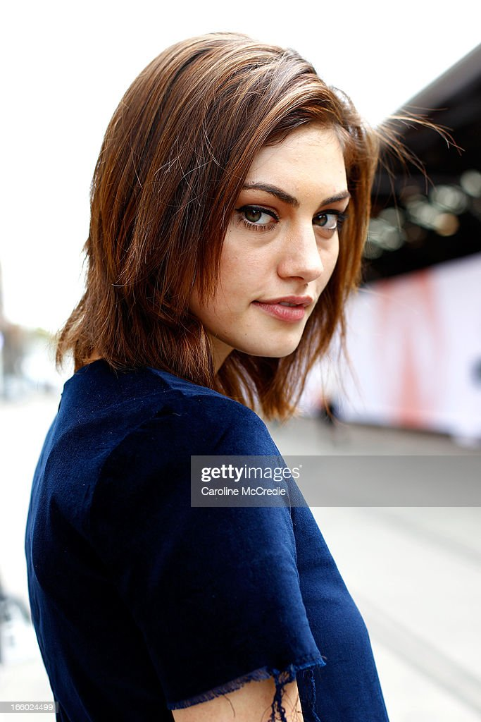 Actress Phoebe Tonkin wears a top by Bec and Bridge, pants by Scanlan & Theodore, and shoes by Givenchy at Mercedes-Benz Fashion Week Australia Spring/Summer 2013/14 at Carriageworks on April 8, 2013 in Sydney, Australia.