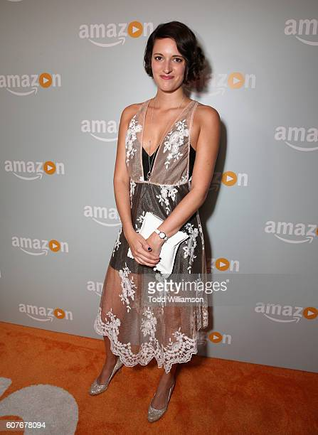 Actress Phoebe WallerBridge attends Amazon's Emmy Celebration at Sunset Tower Hotel West Hollywood on September 18 2016 in West Hollywood California