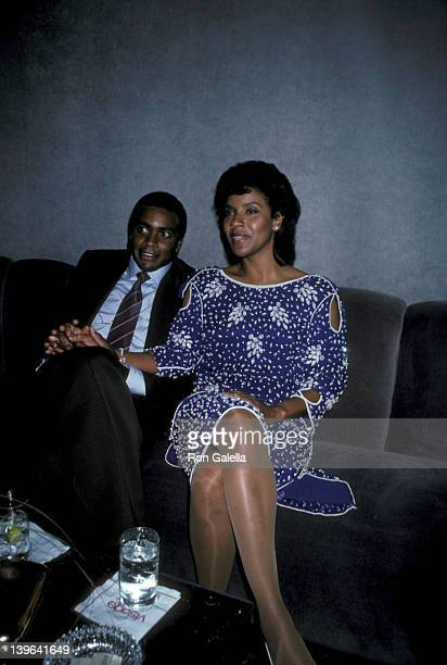 Actress Phylicia Rashad and Ahmad Rashad attending 'Reach For The Stars Benefit For The Negro Ensemble' on September 29 1985 at Visage in New York...