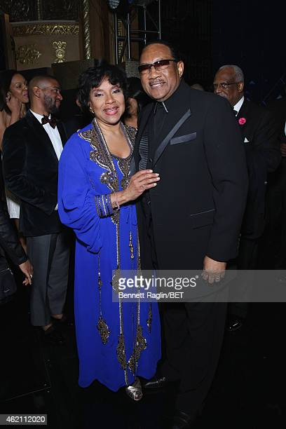 Actress Phylicia Rashad and Dr Bobby Jones attend 'The BET Honors' 2015 at Warner Theatre on January 24 2015 in Washington DC
