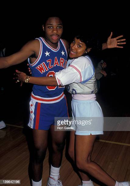 Actress Phylicia Rashad and Malcolm Jamal Warner attending 'Franciscan Games' on September 26 1987 at Madison Square Garden in New York City New York