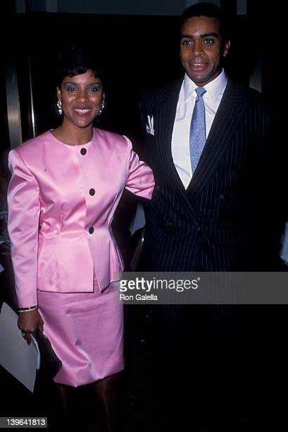 Actress Phylicia Rashad and sportscaster Ahmad Rashad attending 16th Annual International Emmy Awards on November 21 1988 at the Sheraton Center in...