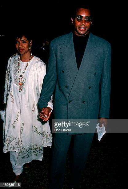 Actress Phylicia Rashad and sportscaster Ahmad Rashad attending the world premiere of 'Crooklyn' on May 9 1994 at Loew's Astor Plaza Theater in New...
