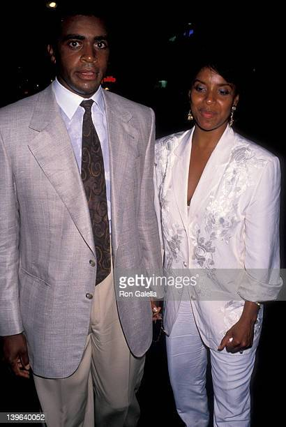 Actress Phylicia Rashad and sportscaster Ahmad Rashad attending the premiere of 'Mo' Better Blues' on July 23 1990 at the Ziegfeld Theater in New...
