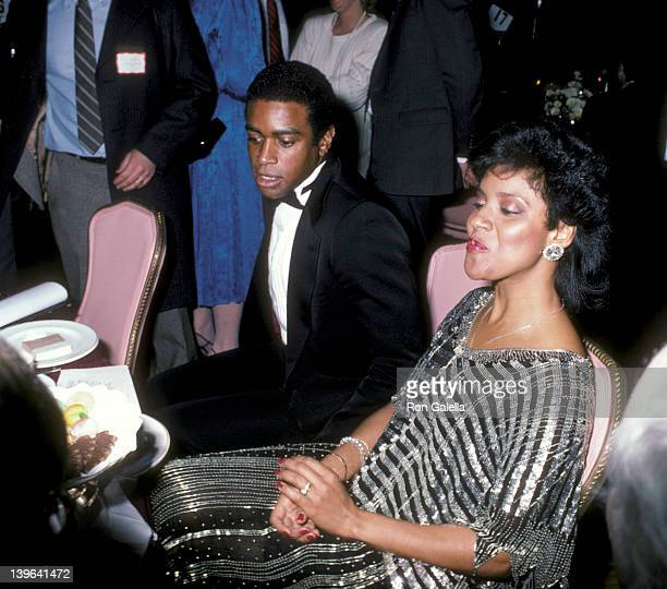Actress Phylicia Rashad and sportscaster Ahmad Rashad attending the premiere party for 'That's Dancing' on January 13 1986 at the New York Hilton...