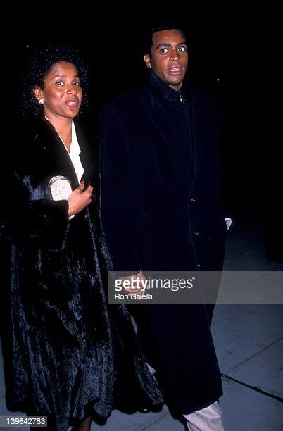 Actress Phylicia Rashad and sportscaster Ahmad Rashad attending the premiere of 'Tap' on February 6 1989 at the Ziegfeld Theater in New York City New...