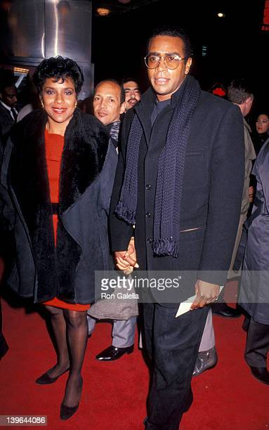 Actress Phylicia Rashad and sportscaster Ahmad Rashad attending the premiere of 'Malcolm X' on November 16 1992 at Ziegfeld Theater in New York City...
