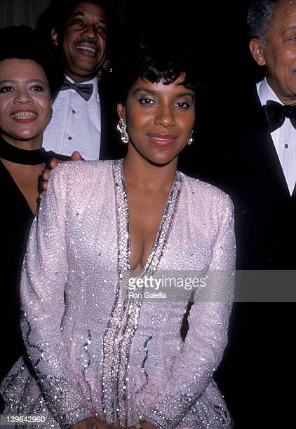 Actress Phylicia Rashad attending 'Jackie Robinson Awards Dinner' on April 17 1989 at the Waldorf Hotel in New York City New York