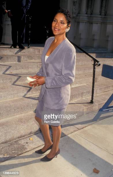 Actress Phylicia Rashad attending 'Spike LeeTanya Lewis Wedding Ceremony' on October 2 1993 at Riverside Church in New York City New York