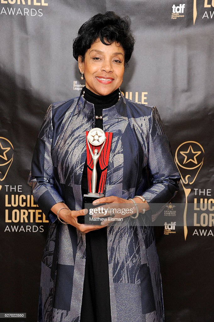 Actress <a gi-track='captionPersonalityLinkClicked' href=/galleries/search?phrase=Phylicia+Rashad&family=editorial&specificpeople=206924 ng-click='$event.stopPropagation()'>Phylicia Rashad</a> attends the press room for the 31st Annual Lucille Lortel Awards at NYU Skirball Center on May 1, 2016 in New York City.