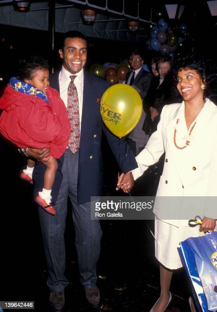 Actress Phylicia Rashad sportscaster Ahmad Rashad and Condola Rashad attending the premiere of 'Oliver and Company' on November 13 1988 at the...