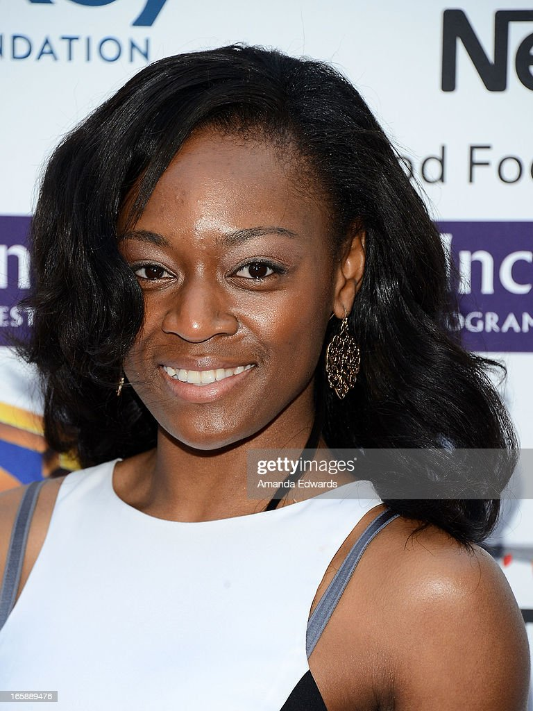 Actress Phylicia Wissa arrives at the Jenesse Center's 2013 Silver Rose Gala & Auction at Vibiana on April 6, 2013 in Los Angeles, California.