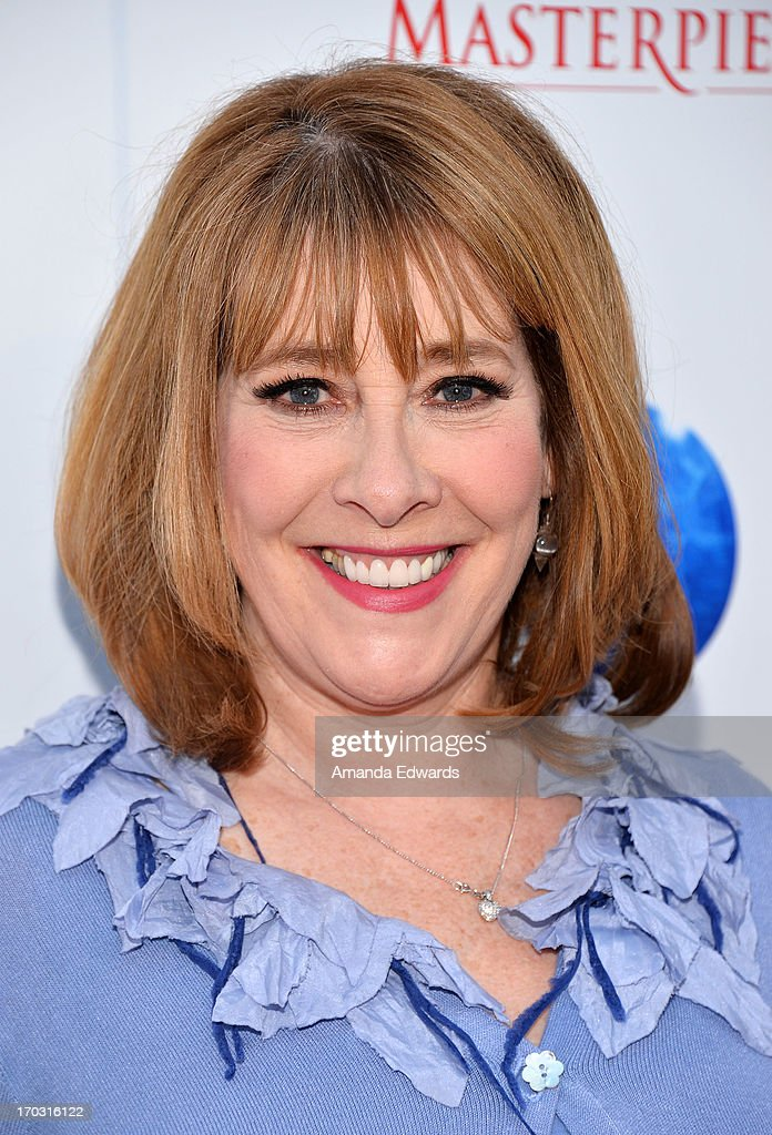 Actress <a gi-track='captionPersonalityLinkClicked' href=/galleries/search?phrase=Phyllis+Logan&family=editorial&specificpeople=540316 ng-click='$event.stopPropagation()'>Phyllis Logan</a> arrives at the 'Downton Abbey' talent panel Q&A at the Leonard H. Goldenson Theatre on June 10, 2013 in North Hollywood, California.