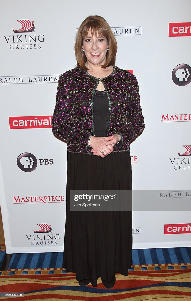 Actress <a gi-track='captionPersonalityLinkClicked' href=/galleries/search?phrase=Phyllis+Logan&family=editorial&specificpeople=540316 ng-click='$event.stopPropagation()'>Phyllis Logan</a> attends 'Downton Abbey' Season Four cast photo call at Millenium Hotel on December 10, 2013 in New York City.