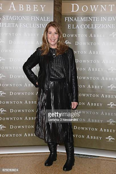Actress Phyllis Margaret Logan attends a photocall for ' Downton Abbey' Tv series on December 12 2016 in Milan Italy
