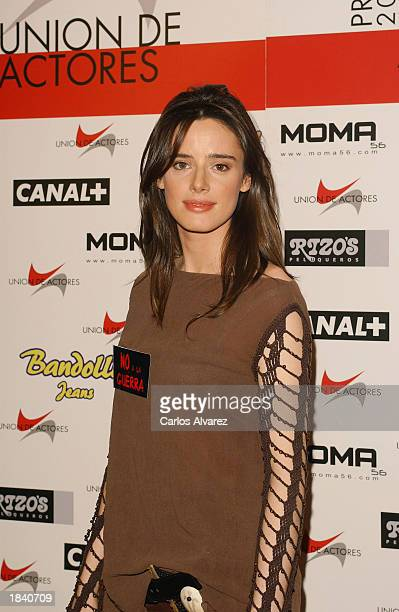 Actress Pilar Lopez de Ayala attends the 12th edition of the Spanish Actors Union Awards at 'Palacio de Congresos' March 10 2003 in Madrid Spain
