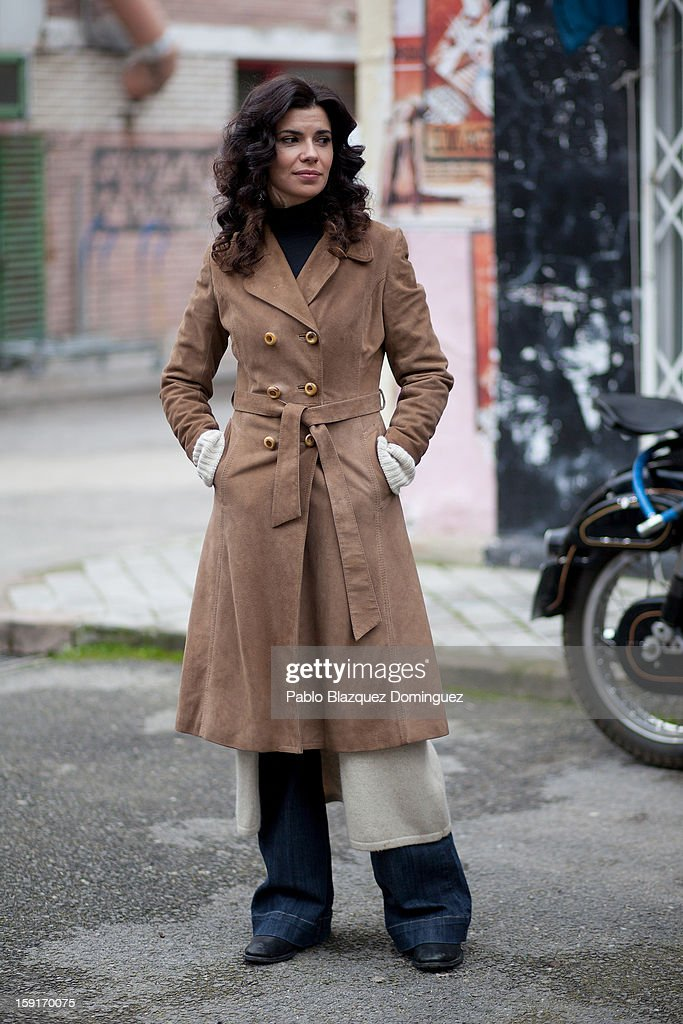 Actress Pilar Punzano attends 'Cuentame Como Paso' 14th Season presentation at Estudios Grupo Ganga on January 9, 2013 in Pinto, Spain.