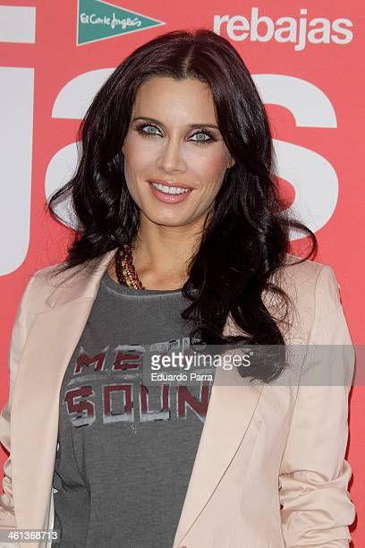 Actress Pilar Rubio attends the presentation of sales at El Corte Ingles store on January 8 2014 in Madrid Spain